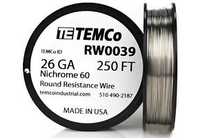 Temco Nichrome 60 Series Wire 26 Gauge 250 Ft Resistance Awg Ga