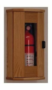 Wooden Mallet Fire Extinguisher Cabinet 5 Lb Capacity Light Oak Fec11lo New