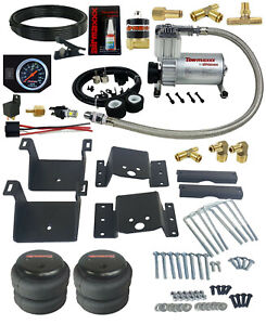 Air Helper Kit Black Gauge On Board Control For 2011 2017 Chevy 8 Lug Truck