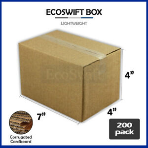 200 7x4x4 Cardboard Packing Mailing Moving Shipping Boxes Corrugated Box Cartons