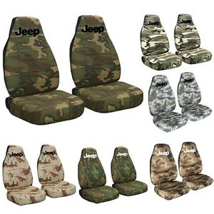 1987 2002 Jeep Wrangler Camouflage Seat Covers With Design Choose Camouflage