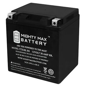 Mighty Max Ytx30l bs 12v 30ah Power Sport Agm Series Sealed Battery