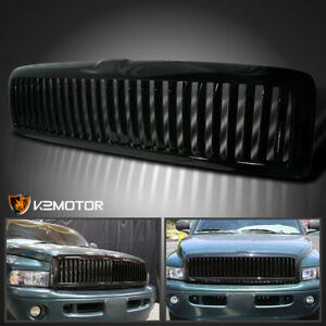 1994 2001 Dodge Ram 1500 2500 3500 Black Front Hood Grill Grille Assembly