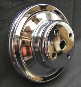 Bbc 1969 2000 Lwp Chevy Chrome Water Pump Pulley Dual Groove Spectre 4498