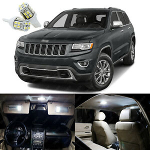 17 X Xenon White Led Interior Lights Package For Jeep Grand Cherokee 2011 2019