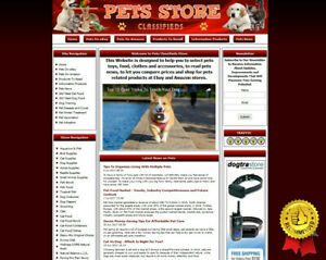 Fully Stocked Pet Store Website For Sale Cats Dogs Birds Supply