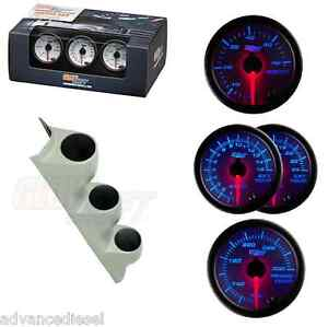Glowshift White7color Diesel Set Boost Transtemp 2400f Egt Univ Gray Pillar Pod