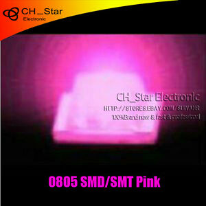 1000pcs 0805 2012 Smd Smt Led Pink Light Super Ultra Bright Lamp Bulb New
