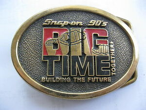 Vintage Snap on 90 s Tools Big Time Belt Buckle