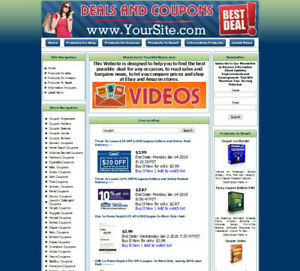 Deals And Coupons Business Website For Sale