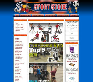 Sport Store Website Business For Sale Amazon Store With Adsense