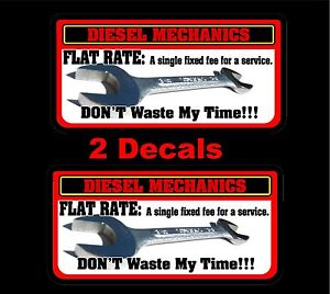 Flat Rate Diesel Decal Mac Toolbox Tool Cart Drill Wrench Drill Air Rachet