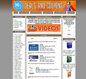 Coupons Website For Sale Work At Home Business Opportunity Free Domain Name