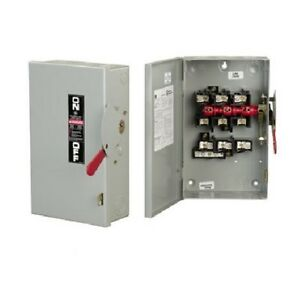 Ge Tg3222r Fusible Safety Switch 60a 240v 2p 3 wire Nema 3r Outdoor