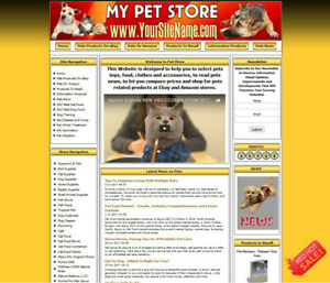 Pet Supply Cat Food Online Affiliate Business Website Hosting Free Domain