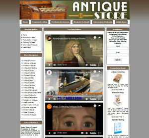 Antique Store Make Money With Your Own Business Website Free Domain