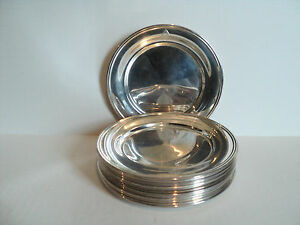 Great Set 14 S Kirk Son Sterling Silver Bread Butter Plates