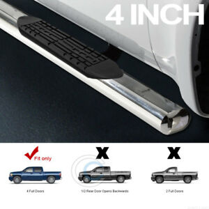 4 Ss Chrome Side Step Nerf Bars Running Boards 01 18 Silverado Sierra Crew Cab