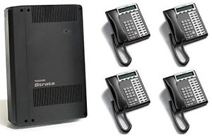 Toshiba Cix40 4x8 Phone System Package Bundle With Voicemail 4 Phones refurb
