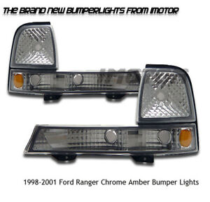 1998 1999 2000 Ford Ranger Splash Xl Xlt Ev Euro Pickup Bumper Signal Lights Set