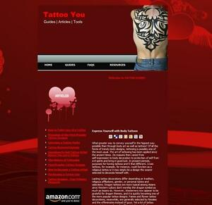 Profitable Tattoo Guides Tips Advice Amazon Clickbank Business Website For Sale