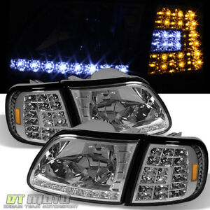 1997 2003 Ford F150 Expedition Led Headlights led Corner Signal Lights Lamps Set