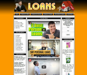 Loans Credit Complete Ready Made Affiliate Website Ebay amazon google clickbank