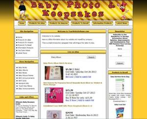 Baby Store Complete Ready Made Affiliate Website Ebay amazon google dropship