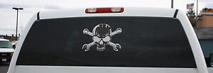 Skull And Cross Wrenches Window Decal Large See Thru Snap On Toolbox Cart Krl
