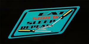 Eat Screw Sleep Repeat Decal Blue Snap On Tool Box Cart Krl Classic