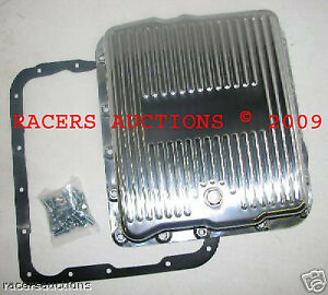 Gm Chevy 700r4 Polished Aluminum Transmission Pan Kit W Gasket And Bolts