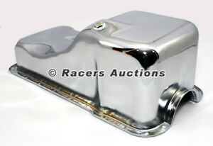 Sbf Ford Front Sump Oil Pan Chrome 260 289 302 5 0 Windsor Small Block
