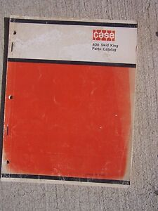 1969 Case 400 Skid King Tractor Parts Catalog Alphabetical Numerical Index T