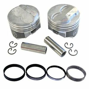 Speed Pro H617cp30 Chevy 350 355 275 Dome Hyper Pistons Moly Ring Kit 030 Sbc