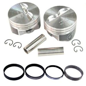 Sbc Chevy 350 Flat Top Speed Pro Pistons Moly Rings Standard Bore