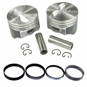 Speed Pro H660cp40 Chevy 327 333 Flat Top Hyper Pistons Moly Ring Kit 040 Sbc