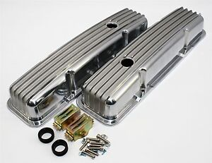 New Sbc Small Block 327 350 Chevy Aluminum Short Stock Height Valve Covers Retro