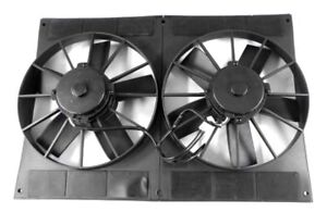 11 Electric Cooling Dual Fans And Shroud Straight Blade Pro Series 2800 Cfm