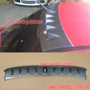 Vortex Vg Style Roof Spoiler Wing carbon Look Fits 01 07 Mitsubishi Evo 7 8 9