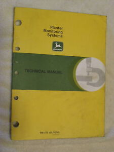 Jd John Deere Planter Monitoring Systems Technical Service Manual Tm1270