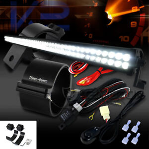 100 Led Combo Beam Roof 52 Work Fog Light Wiring Harness 3 Mounting Brackets