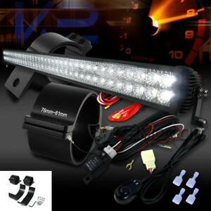 47 72 led Off Road Slim Row Work Fog Light wiring Harness 3 Mounting Brackets
