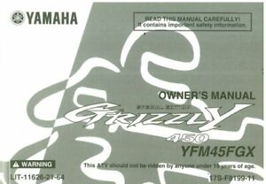 2008 Yamaha YFM450FGX Grizzly ATV Owners Manual : LIT-11626-21-64