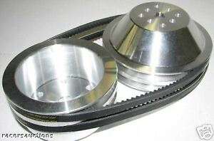 Small Block Chevy Aluminum Pulley Kit 20 Reduction For Short Water Pump Sbc 350