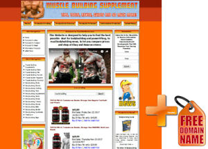 Body Building Weight Loss Store Affiliate Website Ebay amazon google dropship