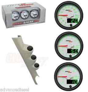Gsmaxtow White Diesel Set boost pyro fuel Pres taupe Pod For 03 09 Dodge Cummins