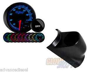 Glowshift Elite Ten Color Oil Pressure Gauge black Pod Fits 98 02 Dodge Cummins