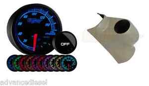 Glowshift Elite Ten Color Oil Pressure Gauge Taupe Pod For 03 09 Dodge Cummins