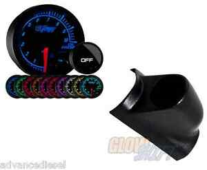 Glowshift Elite 10color Bar Oil Pressure Gauge black Pod For 98 02 Dodge Cummins