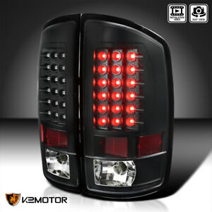Black For 2002 2006 Dodge Ram 1500 2500 3500 Led Tail Lights Brake Lamps Pair